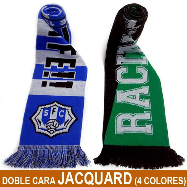 bufandas doble cara Jacquard