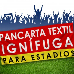 PANCARTA IGNÍFUGA TEXTIL