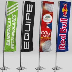 Banderolas para publicidad rectangulares