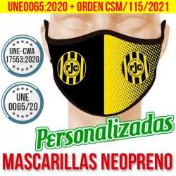MASCARILLAS PERSONALIZADAS DE NEOPRENO