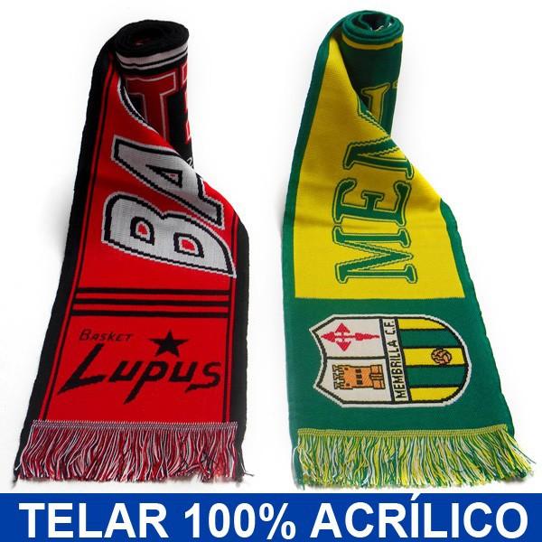 bufandas deportivas Telar 100% acrílicas