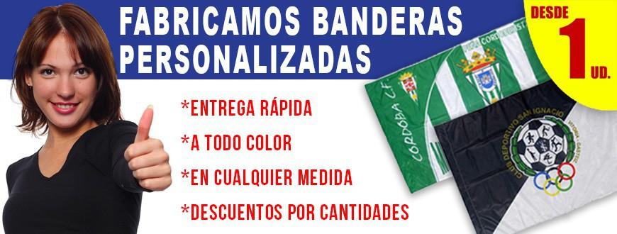 Banderas personalizadas deportivas y publicitarias baratas